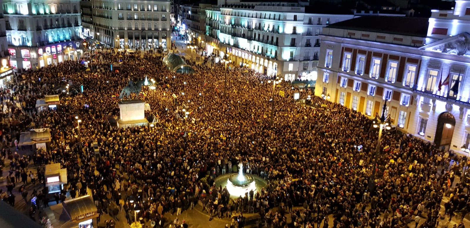 FOTOS: La multitudinaria protesta en Madrid contra la dictadura de Nicolás Maduro