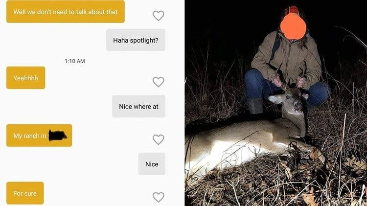 Karma inmediato: Caza un ciervo ilegalmente y su app de citas la delata