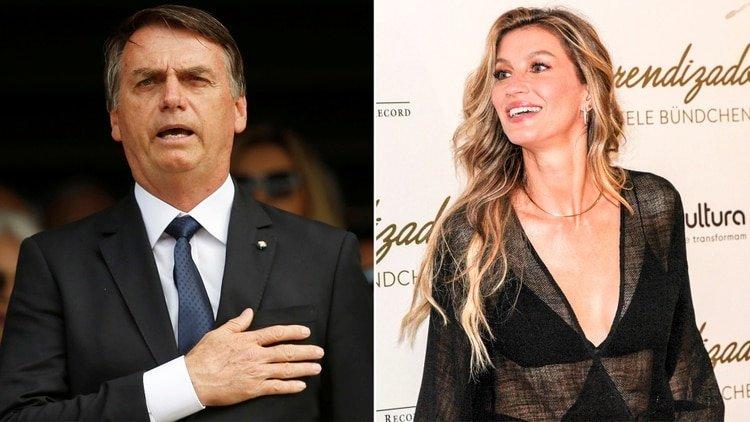 La tentadora propuesta de Jair Bolsonaro a la top model Gisele Bündchen
