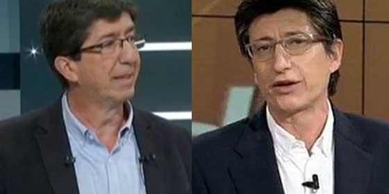 Juan Marín y el periodista Juan Carlos Rivero... ¿separados al nacer?