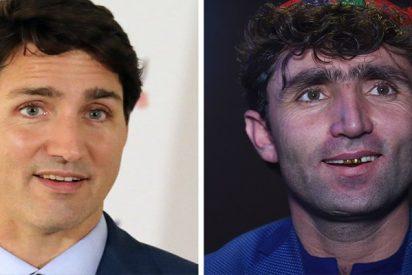 Encuentran al 'gemelo perdido' de Justin Trudeau en un concurso de talentos en Afganistán