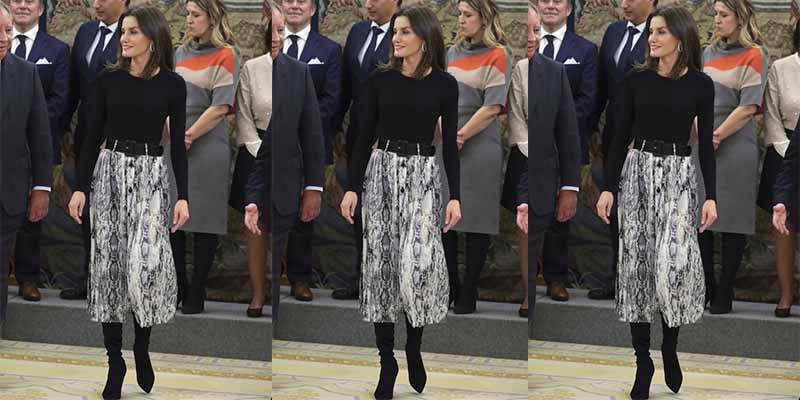La falda de rebajas de la Reina Letizia que solo cuesta 13 euros en Zara