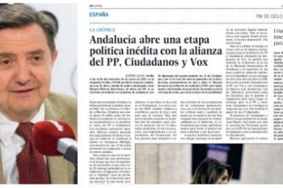 """Losantos le mete un buen directo en el estómago a El País por ocultar la investidura de Moreno: """"Es sectarismo abyecto"""""""