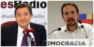Losantos pone cara y ojos a la responsable del 'Errejonazo' por la espalda a Pablo Iglesias