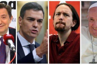 Losantos le pasa factura a los cobardes Sánchez, Iglesias y el Papa Francisco por seguir de rodillas ante Maduro