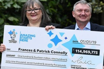 Esta pareja irlandesa gana 146 millones de dólares en la lotería Euromillones