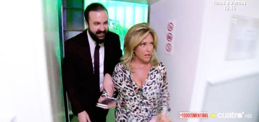 Raptan a Lydia Lozano en los pasillos de Telecinco y le sacan los colores por vanidosa