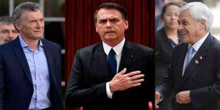 Piñera, Macri y Bolsonaro: Tres presidentes que voltearon a la derecha el tablero del poder en Sudamérica