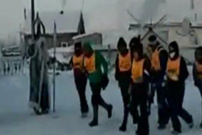 Organizan una carrera a 52 grados bajo cero en Siberia