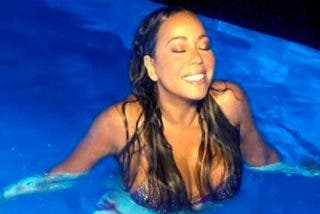 El sugerente posado en bikini de Mariah Carey