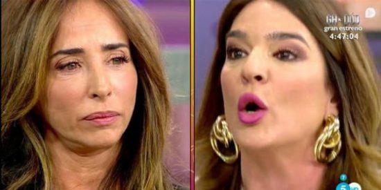 El hundimiento definitivo de María Patiño: Abandona 'Sálvame' por culpa de Raquel Bollo