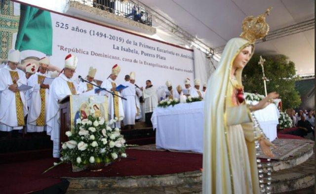 Celebran en el norte dominicano 525 años de la evangelización de América