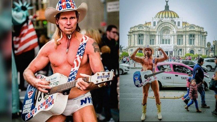 "El famoso ""Naked Cowboy"" de Times Square, detenido en México"