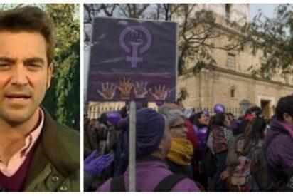 """Javier Negre ridiculiza el escaso poder de convocatoria de las protestas feministas: """"Va más gente a un partido de Los Boliches"""""""