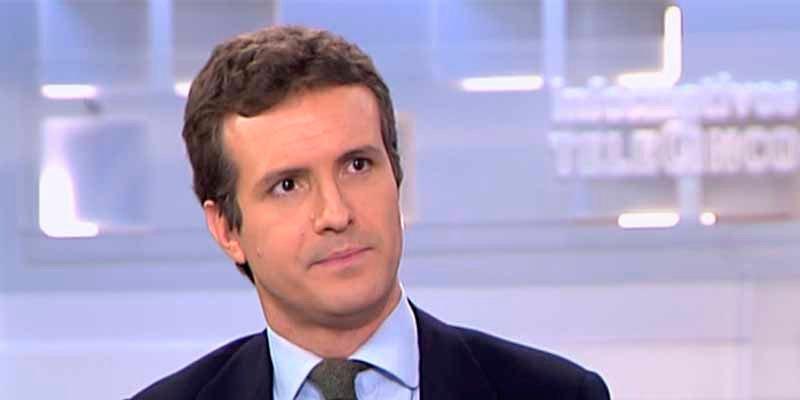 """Pablo Casado: """"Pedro Sánchez es un cobarde y Pablo Iglesias e Íñigo Errejón son de la misma escuela chavista"""""""