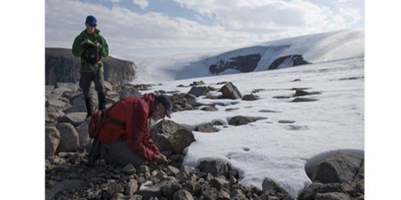 Aparece este paisaje ártico escondido bajo el hielo durante 40.000 años