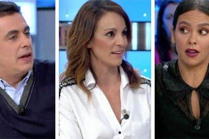 """Cristina Pedroche acude con una sonrisa a 'Espejo Público' para hablar de su vestido y se va mosqueadísima: """"No he venido a que me echéis a los leones, si lo sé, me quedo en casa"""""""