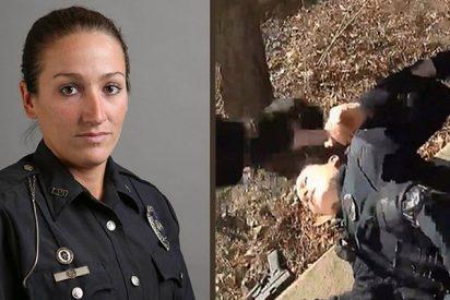 Policía le dispara por accidente a su compañera en la espalda