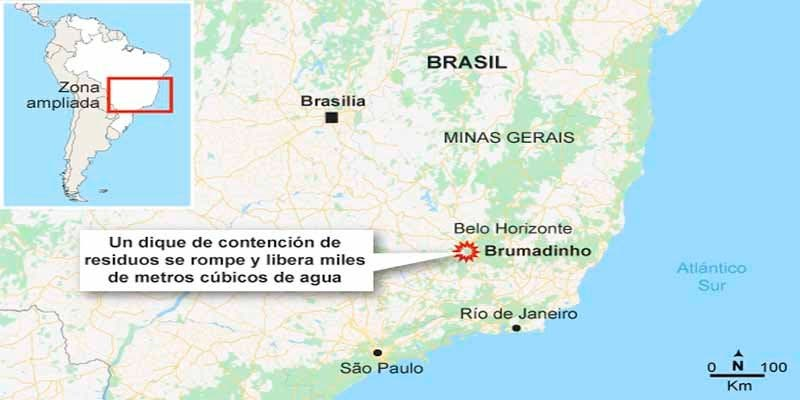 Brasil busca desesperadamente a 254 empleados de una mina devorada por toneladas de residuos