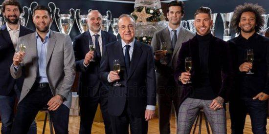 Así fueron las 12 uvas del Real Madrid para 2019