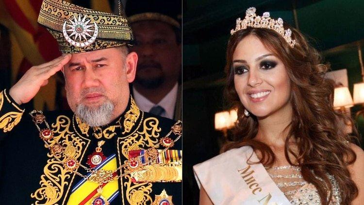 Un Rey se casa en secreto con una modelo rusa y abdica al trono