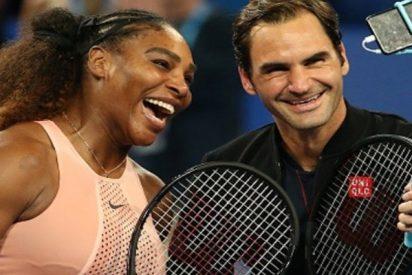 """Roger Federer vence a Serena Williams en """"uno de los partidos más históricos del mundo"""""""
