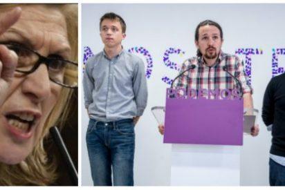 El fantasma de Rosa Díez se aparece en la sede de Podemos y provoca una despavorida desbandada
