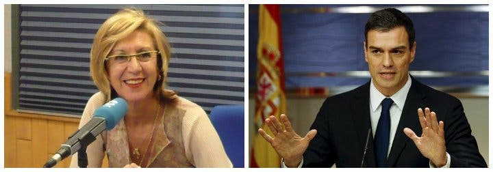 """Rosa Díez se cachondea de los recelos de Sánchez con Guaidó: """"Cree que se atrincherará sin convocar elecciones"""""""