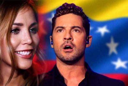 Rosanna Zanetti, la mujer de David Bisbal, pone la cara roja al 'ignorante' Pablo Iglesias