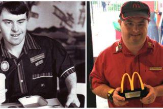 Un reconocido empleado de McDonald's con Síndrome de Down se retira