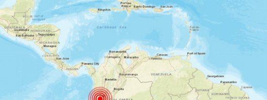 Regitran un sismo de magnitud 5,4 en Colombia