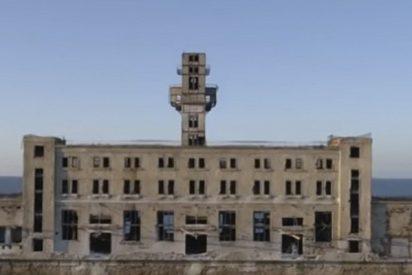 Un dron graba este misterioso sitio de pruebas de armas en el mar Caspio