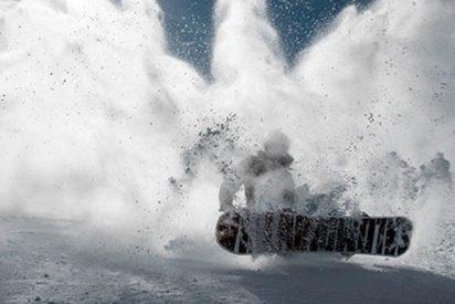 Este 'Snowboarder' provoca una avalancha y es arrastrado 100 metros