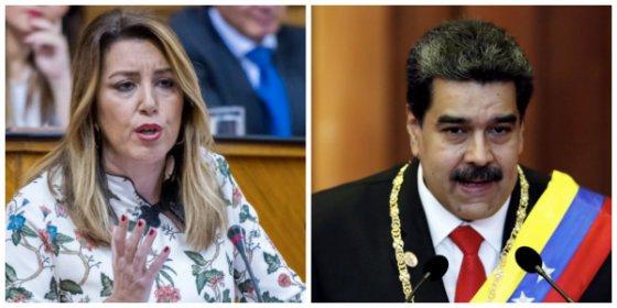 La enrabietada Susana Díaz creyó que Andalucía era Venezuela y se marcó un indigno 'Nicolás Maduro'