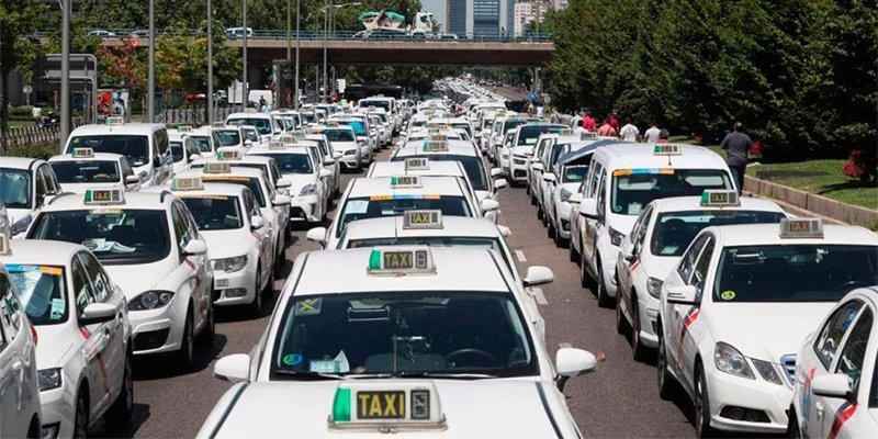 Taxistas de toda España toman Madrid