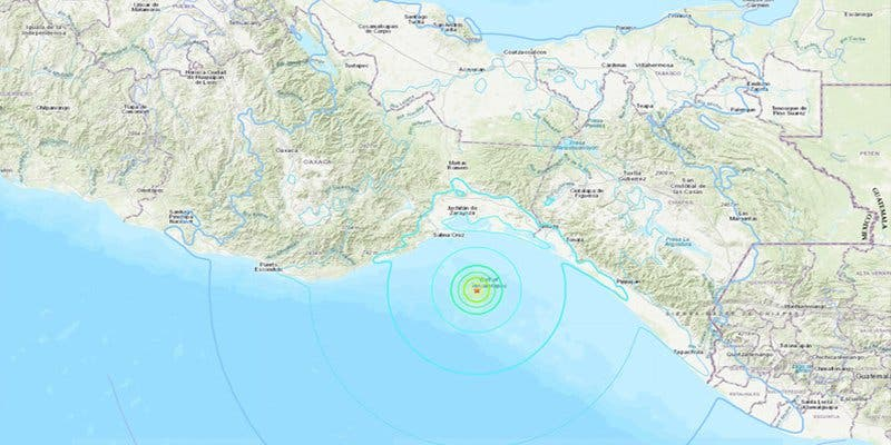 Se registra un terrible terremoto de magnitud 5,8 en México