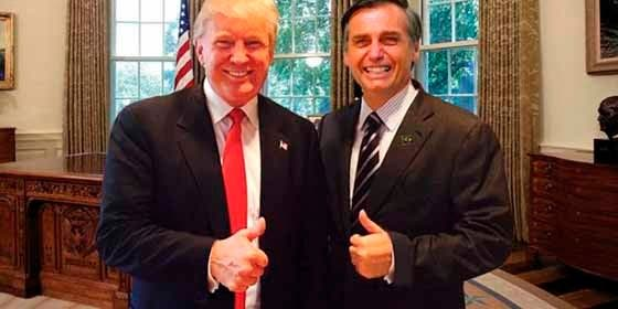 """Donald Trump y Jair Bolsonaro se """"profesan amor"""" en las redes sociales durante el cambio de mando en Brasil"""