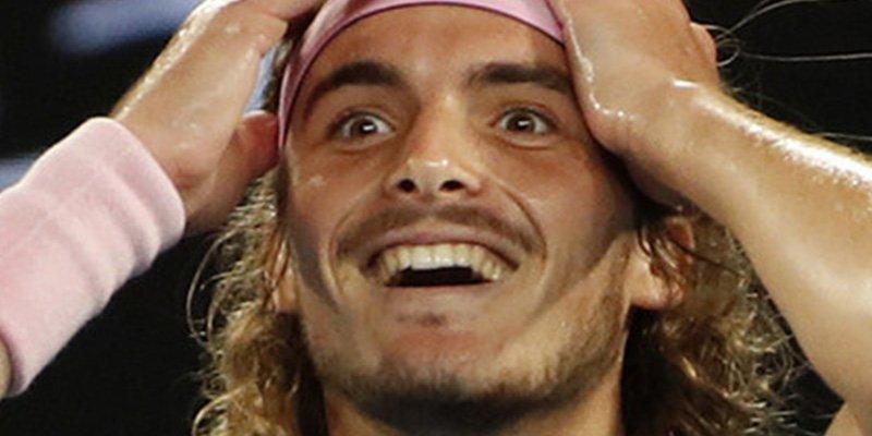 Tsitsipas no se lo cree todavía: supera a Federer en el Abierto de Australia