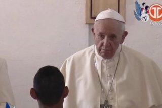"""Francisco, a los jóvenes presos: """"Dios no mira un rótulo ni una condena, mira hijos"""""""