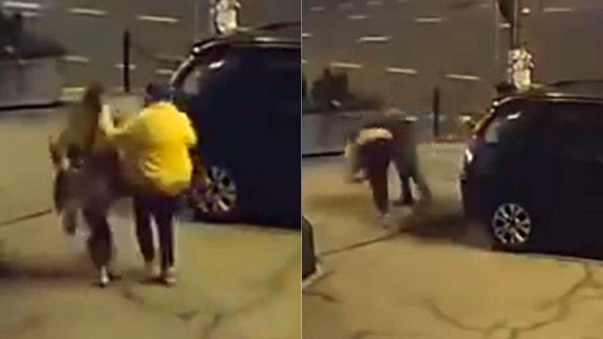 Ex luchador de UFC rescata a una mujer de la golpiza dada por un hombre a la salida de una discoteca