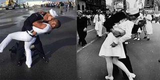 Mano de palos a una boda gay por el 'sacrilegio' de recrear una icónica fotografía de guerra
