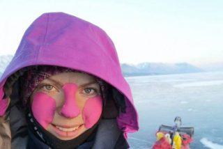 La sueca Gina Johansen recorre 700 kilómetros sobre el lago Baikal en 15 días