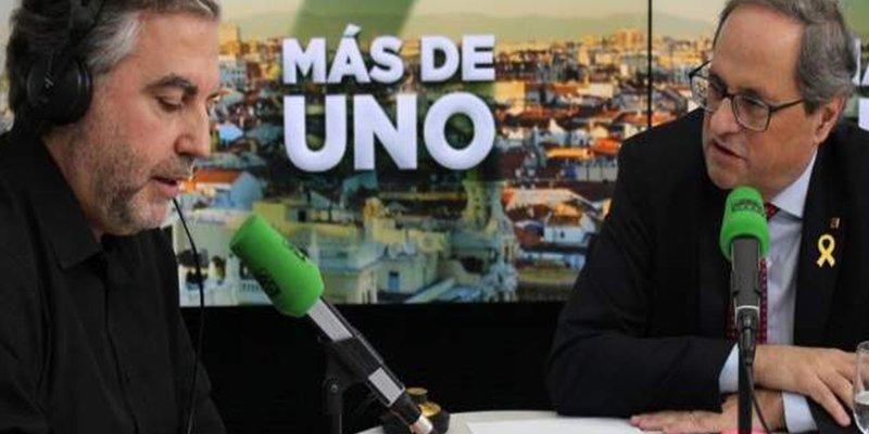 Carlos Alsina deja con el culo al aire a Quim Torra con un chorreo de preguntas que no sabe responder