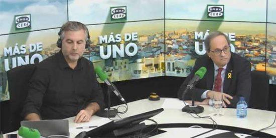 Así manipuló la vergonzosa TV3 la entrevista de Alsina a Torra para intentar tapar el vapuleo que sufrió el dirigente secesionista
