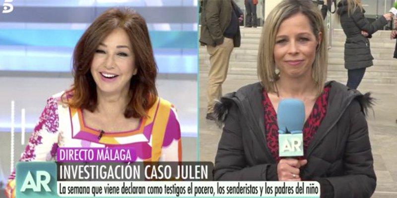 """Ana Rosa pone en apuros a una de sus reporteras tras esta metedura de pata: """"No me lo creo"""""""