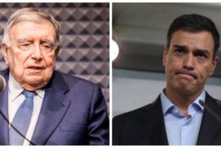 Luis María Anson busca un pesebre público con un artículo empalagoso y lleno de elogios hacia Pedro Sánchez