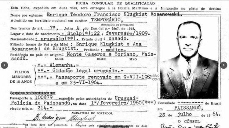 """El nuevo documento que demuestra la presencia del """"Doctor Muerte"""" nazi en Uruguay"""