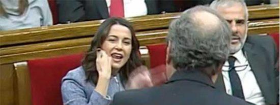 Arrimadas y la bancada de Ciudadanos estallan ante el descarado veto de Torrent en auxilio del golpeado Torra: