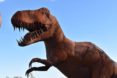 Huellas de los tres grupos principales de dinosaurios en una misma senda