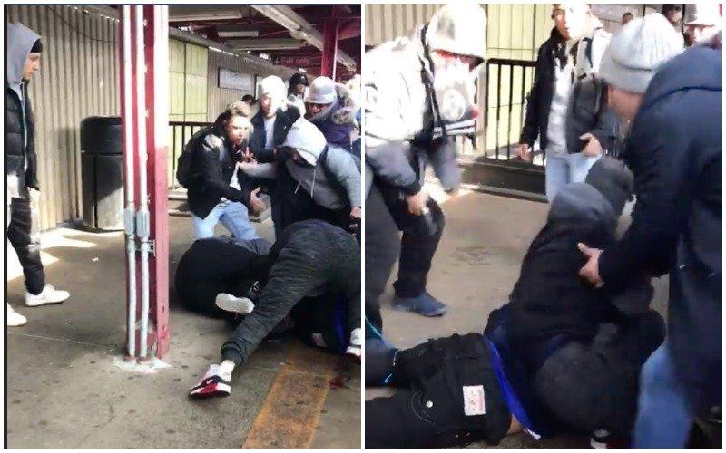 Vídeo: Brutal pelea y asesinato a sangre fría en el Subway de Nueva York